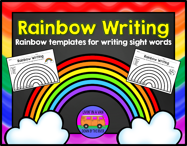 RAINBOW WRITING, READING CENTERS, SIGHT WORDS