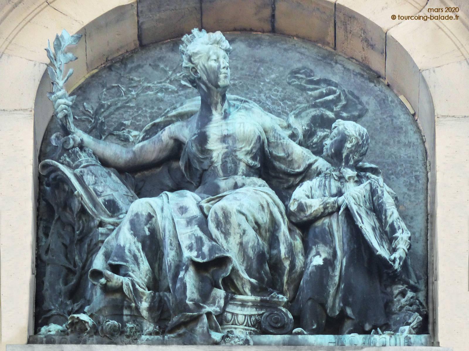 Sculpture Henri Gauquié, 1904, Tourcoing