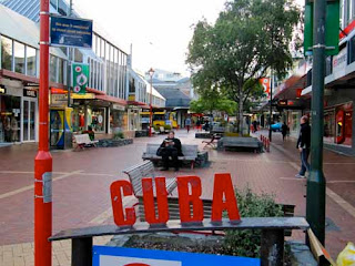 Cuba Street Mall Wellington New Zealand
