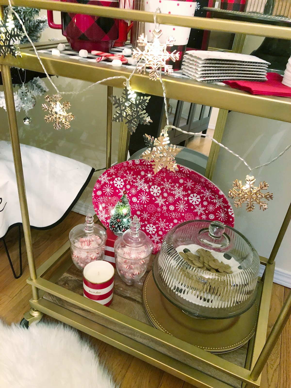 how to make a hot cocoa bar cart