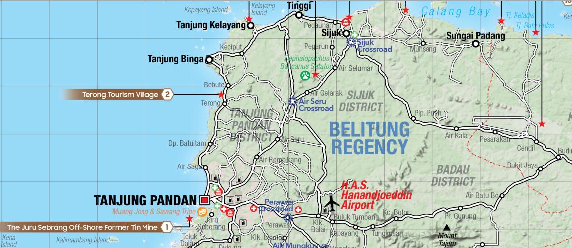 Map Lokasi Geosite Desa Wisata Terong  Terong Tourism Village