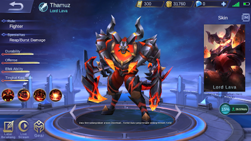 Hero Baru Mobile Legends Thamuz Sang Lord Lava