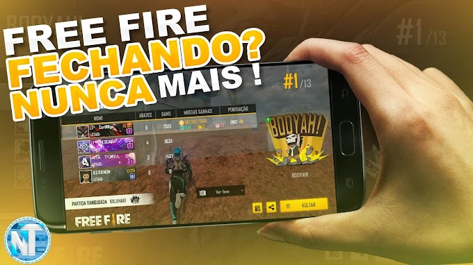 Como RESOLVER o erro do FREE FIRE FECHANDO SOZINHO no Android