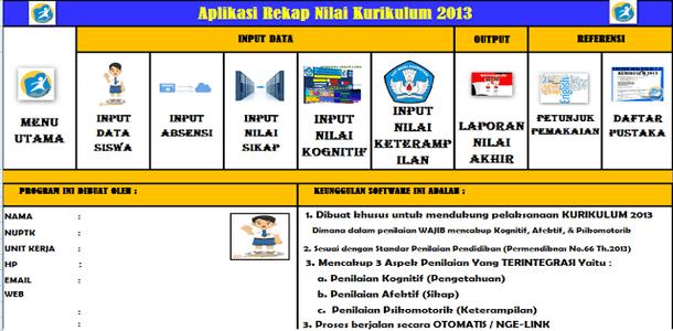 Aplikasi Penilaian Kurikulum 2013 Hasil Revisi Terbaru