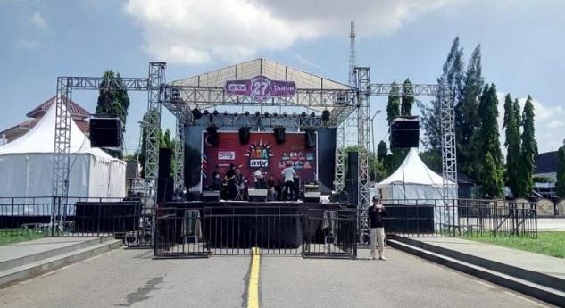Persiapan acara 'Ada ANTV' di Cilacap, Jawa Tengah. (ANTV/Dadang Sungkawa).