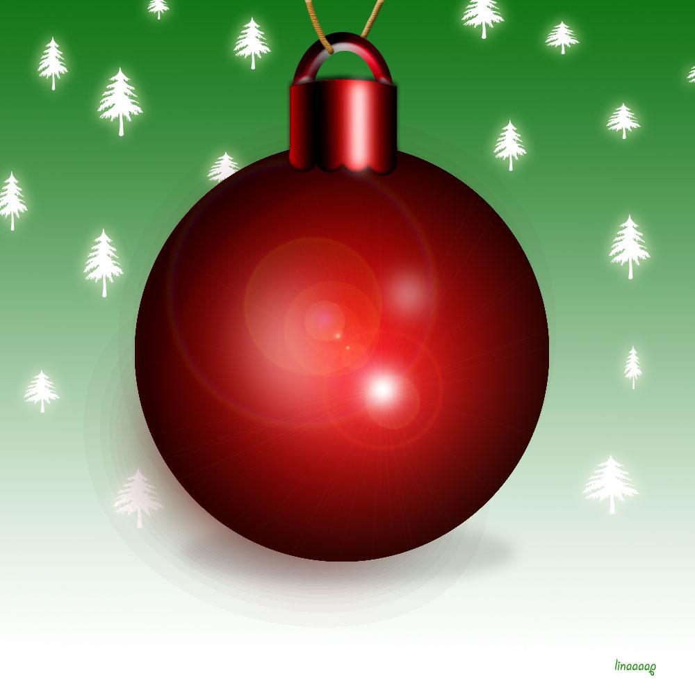 χριστουγεννιάτικη μπάλα κόκκινη photoshop