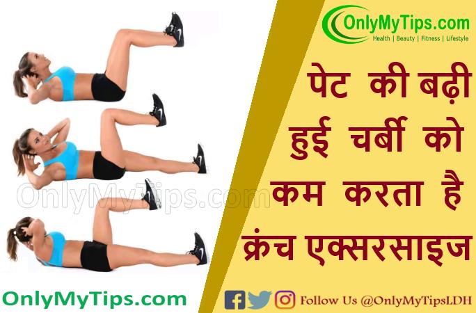 पेट की बढ़ी हुई चर्बी को कम करता है क्रंच एक्सरसाइज | Crunch Exercise Reduces Tummy Fat in Hindi