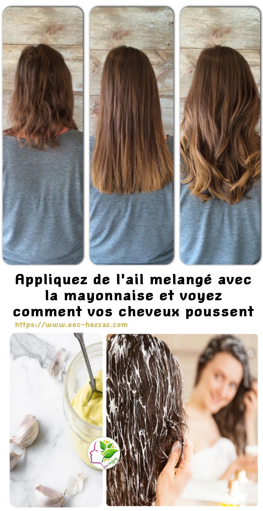 Appliquez de l'ail melangé avec la mayonnaise et voyez comment vos cheveux poussent