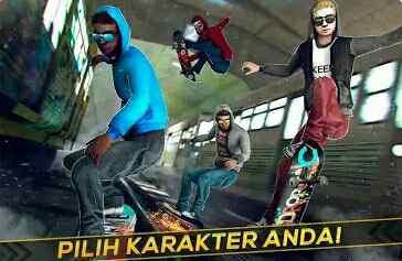 Skateboard Kereta Api Balap 3D Skating Ekstrim