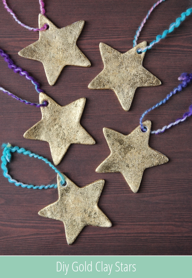 Diy Gold Clay Star Decorations