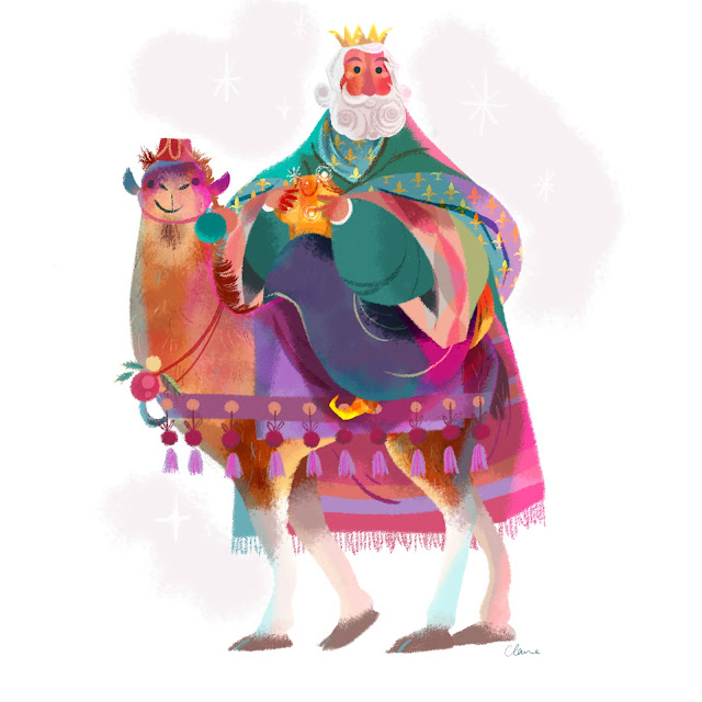 Wise man Claire O'Brien Illustration