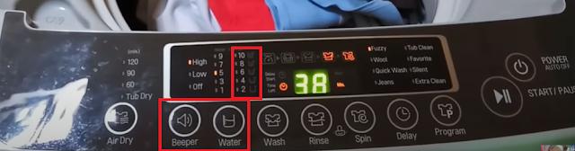 Fungsi Tombol Pada Mesin Cuci LG