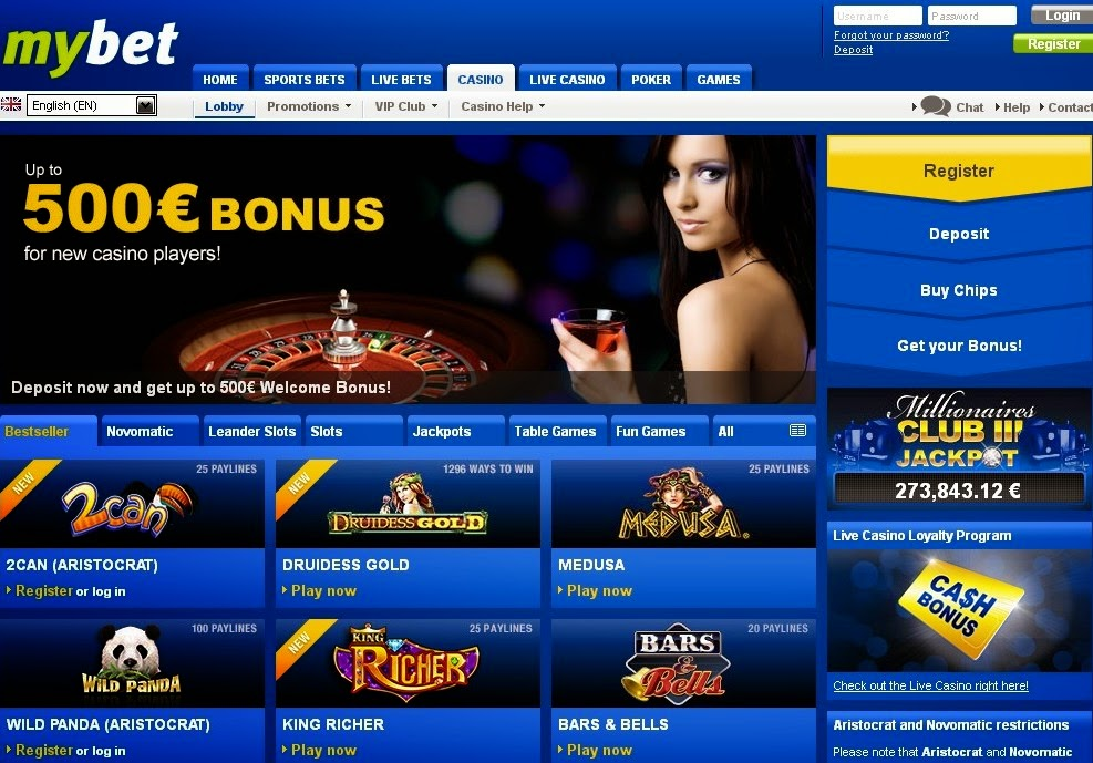 Mybet Casino Screen