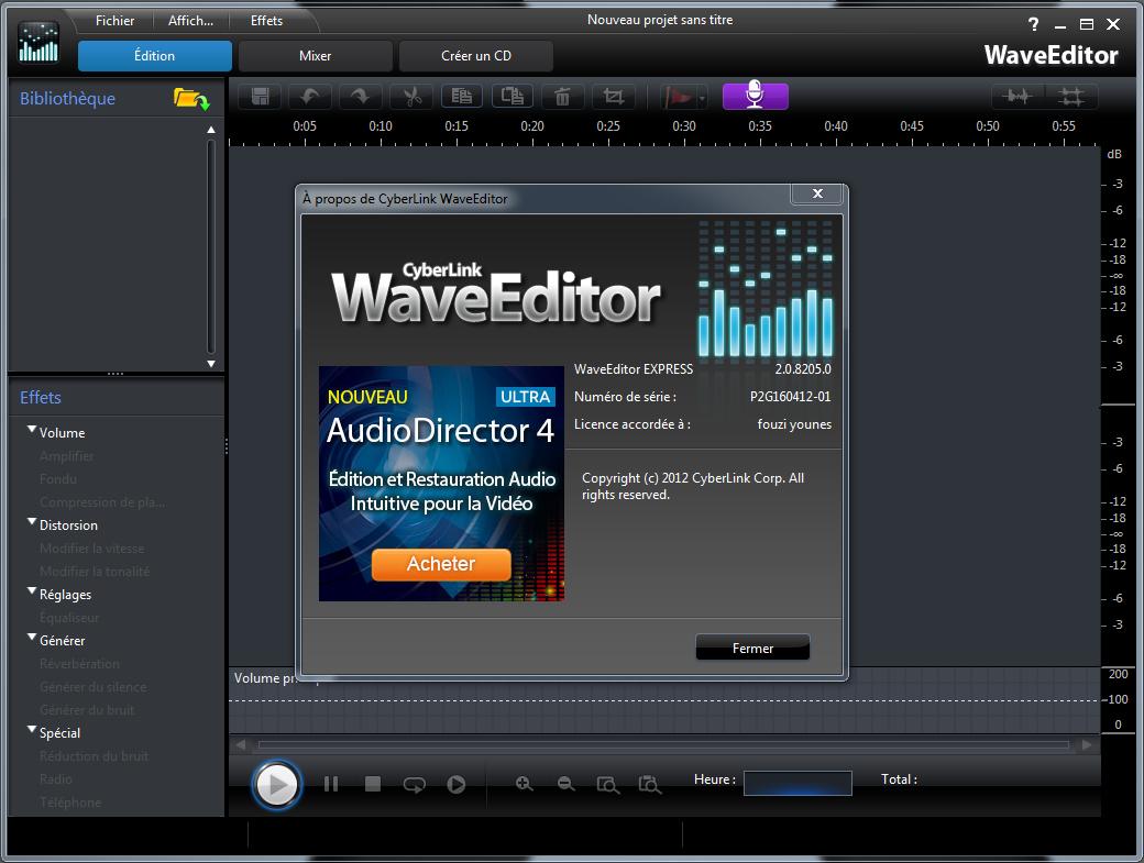 برنامج CyberLink WaveEditor 2.0.8205.0 مفعل