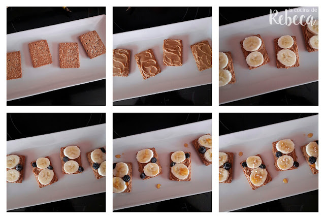 Receta de galletas con fruta y mantequilla de cacahuete