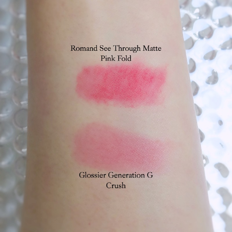 Glossier Generation G Crush review swatch