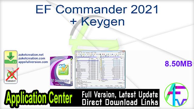 EF Commander 2021 + Keygen
