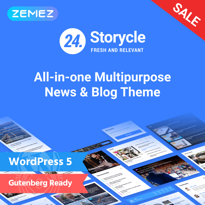 24.Storycle - News Portal Elementor WordPress Theme