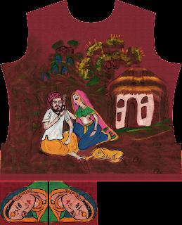 Hand Painting Suit Kurti