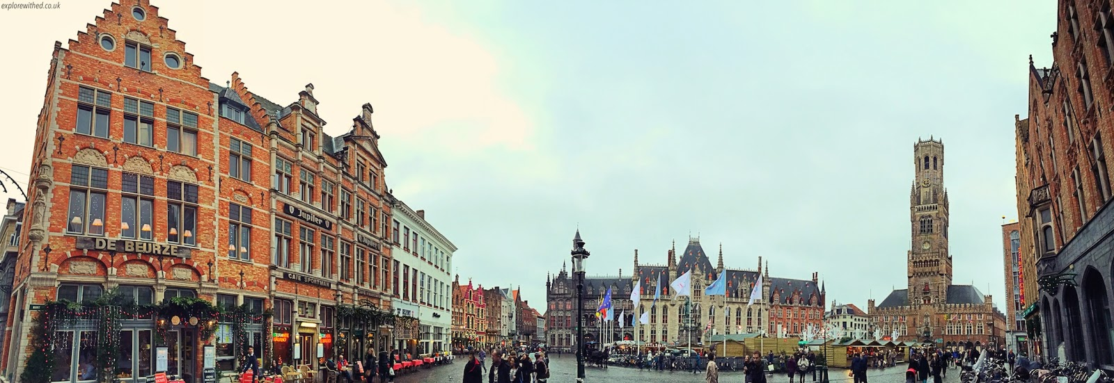 A panoramic view of Bruges Main Square