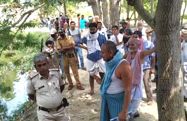 पुलिस के हस्तक्षेप पर शांत हुआ बिजलपुरा तालाब का विवाद