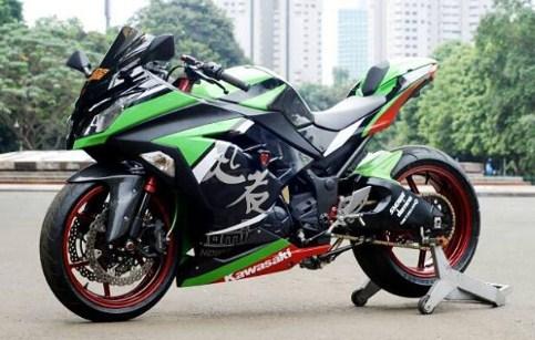 terbaru modifikasi ninja 250 fi warna hijau