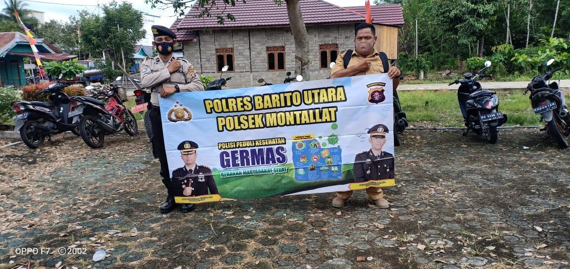 Cegah Penyebaran Covid 19 Aiptu Nunung  Sosialisasi Germas di Desa Montallat