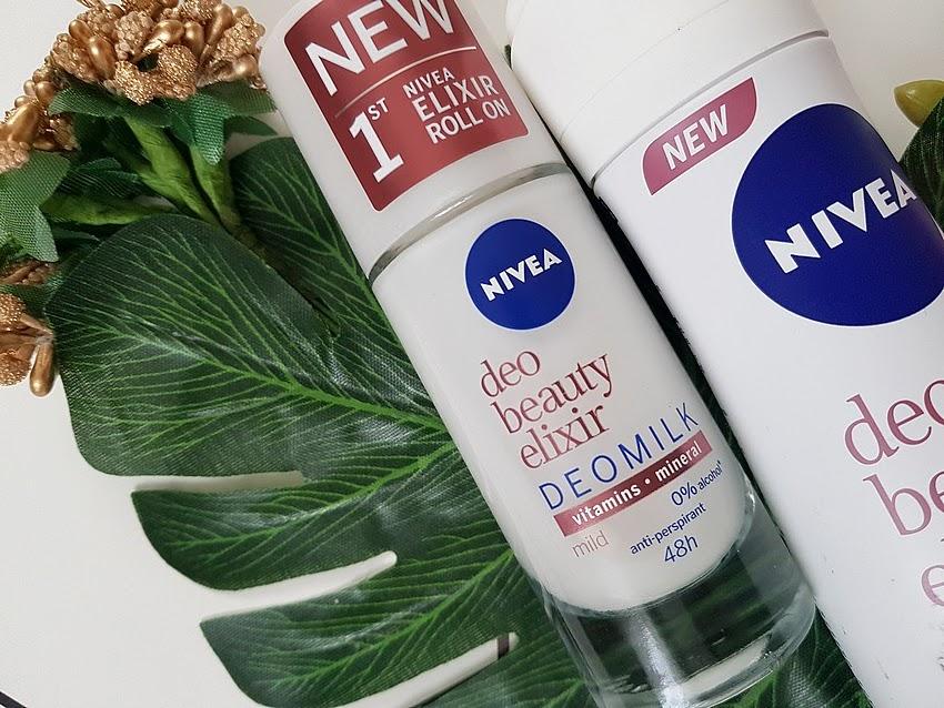 NIVEA deo beauty elixir mild paczka ambasadorki
