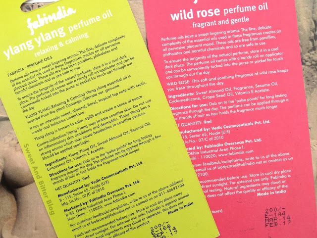 FabIndia Perfume Oil Roll On Review // WIld Rose and Ylang Ylang