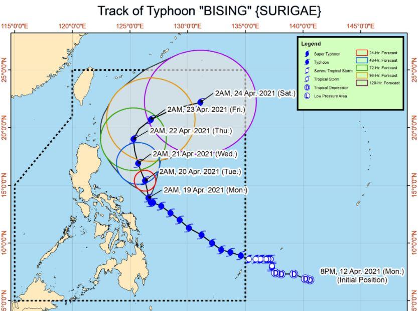 'Bagyong Bising' PAGASA track
