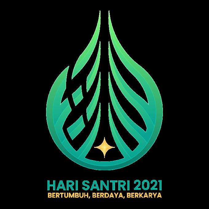 LOGO DAN MAKNA FILOSOFI HARI SANTRI 2021