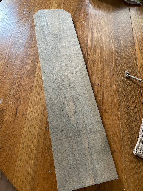Photo of stained fence board