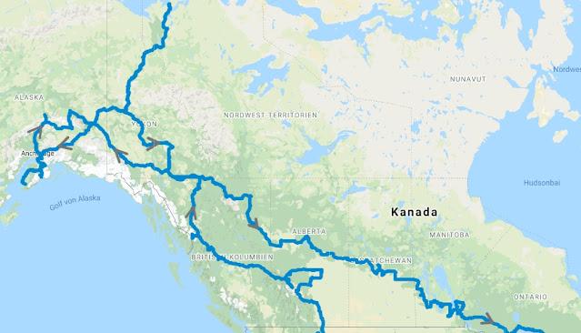 Route Kanada / USA 2018