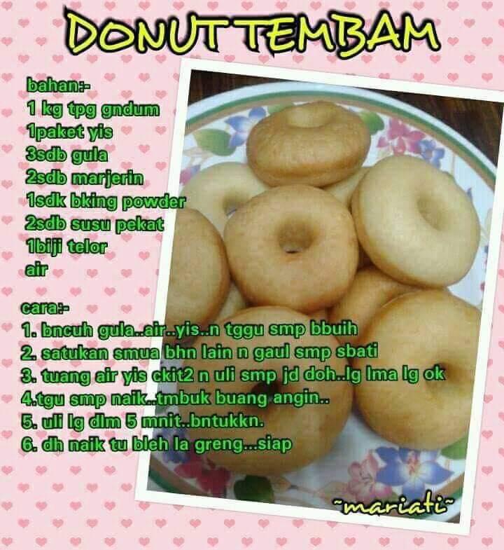 resepi donut tembam sihat