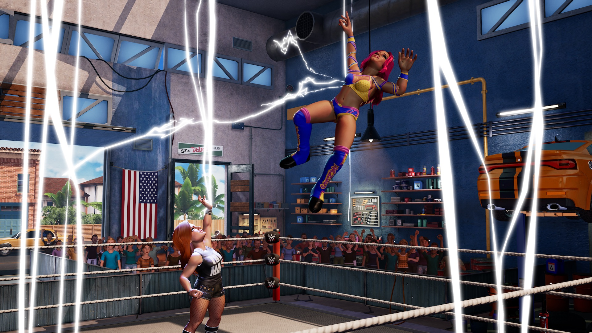 Becky Lynch and Sasha Banks on WWE 2K Battlegrounds