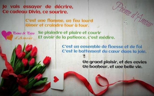 Poème romantique avec image d'amour