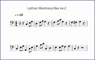 gambar notasi membaca notasi bas ke-2
