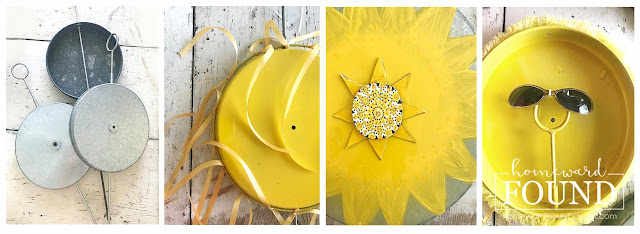 garden art,art class,DIY,diy decorating,salvaged,re-purposing,up-cycling,trash to treasure,painting,summer,garden,Pantone color of the year,colorful home,junk makeover,outdoors,diy garden art,summer home decor,summer decor,re-purposed garden art