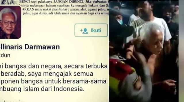 Tak Kapok Pernah Dipenjara, Aki-aki Penghina Islam Digelandang Warga Tanpa Baju