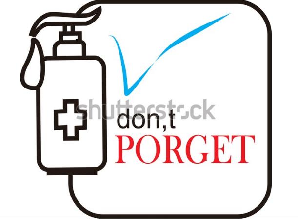 illustration hand sanitizer botlle