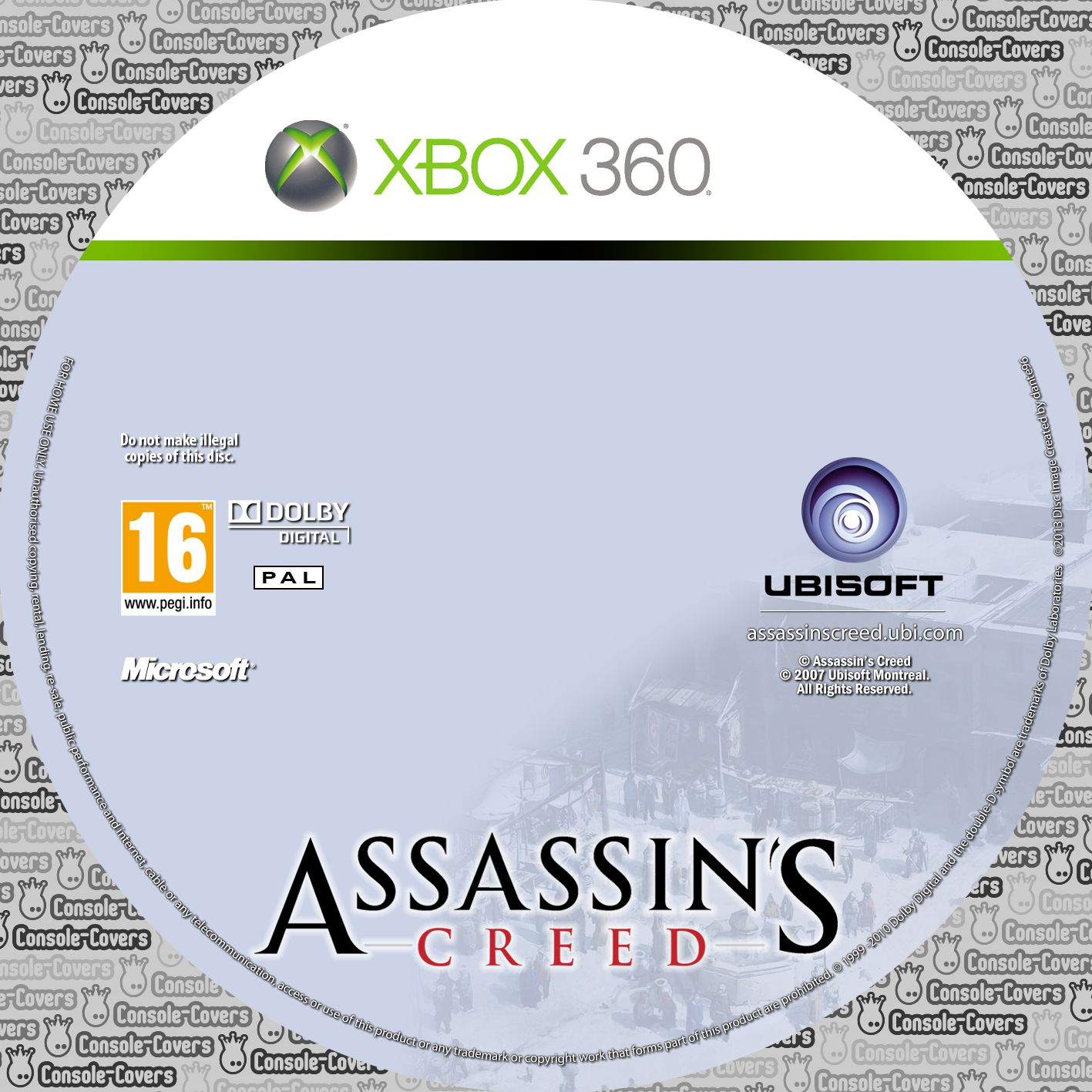 Label Assassins Creed Xbox 360