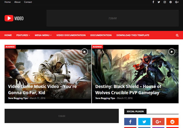 Video mobile friendly blogger template free download