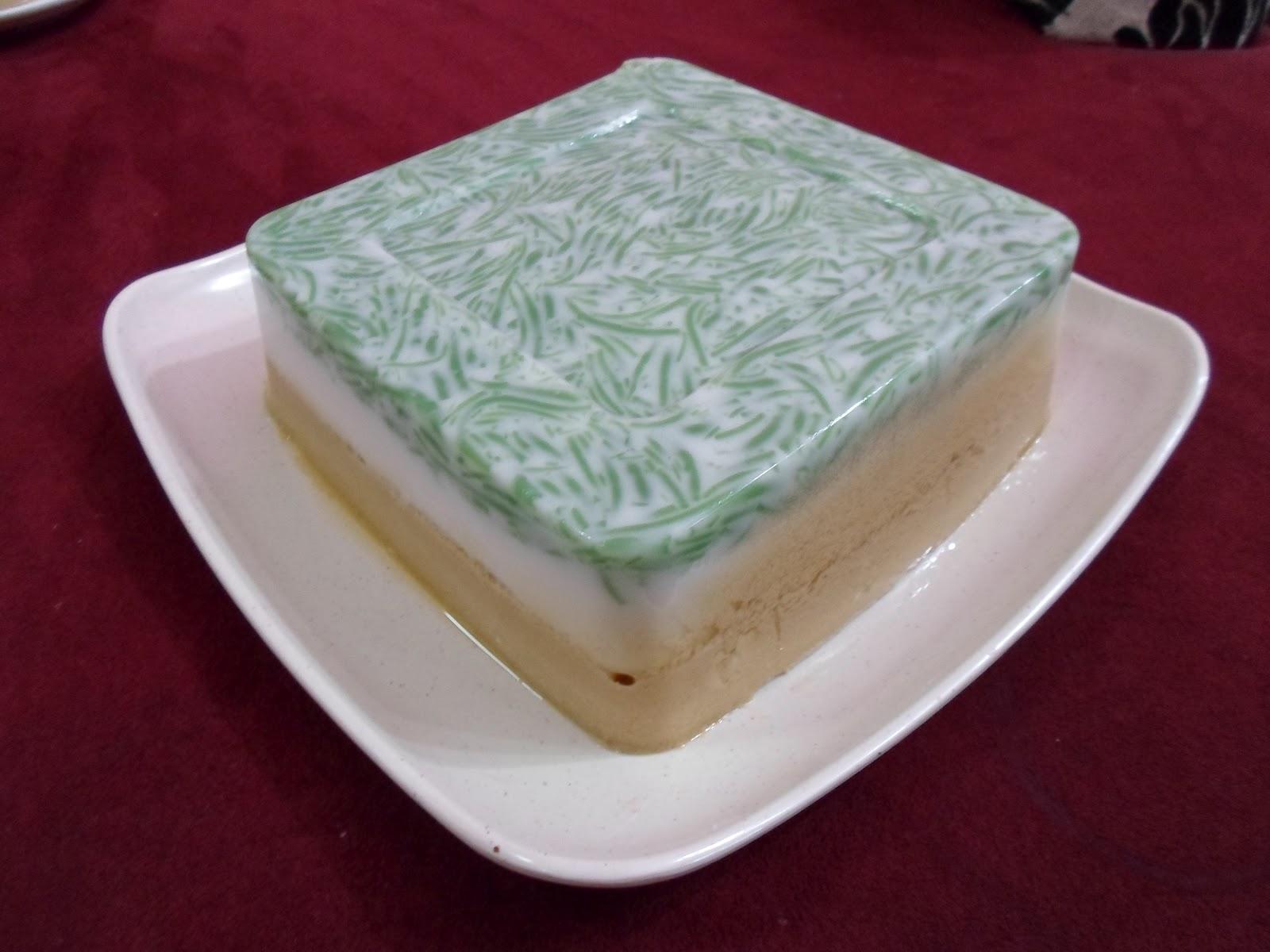 Gula Hangus ( 002177897 - D ): Resepi Puding Cendol Gula Melaka Bersantan.