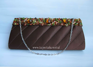 Tas Pesta Clutch Bag Coklat