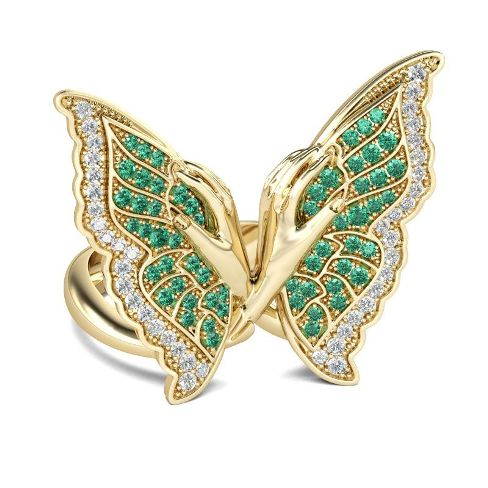 Butterfly Sterling Silver Cocktail Ring – Price : $155.00