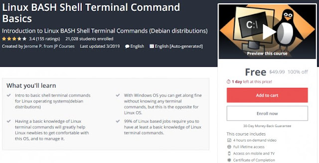 [100% Off] Linux BASH Shell Terminal Command Basics| Worth 49,99$