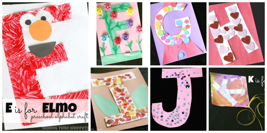 Hands On Alphabet Crafts For Preschoolers School Time Snippets