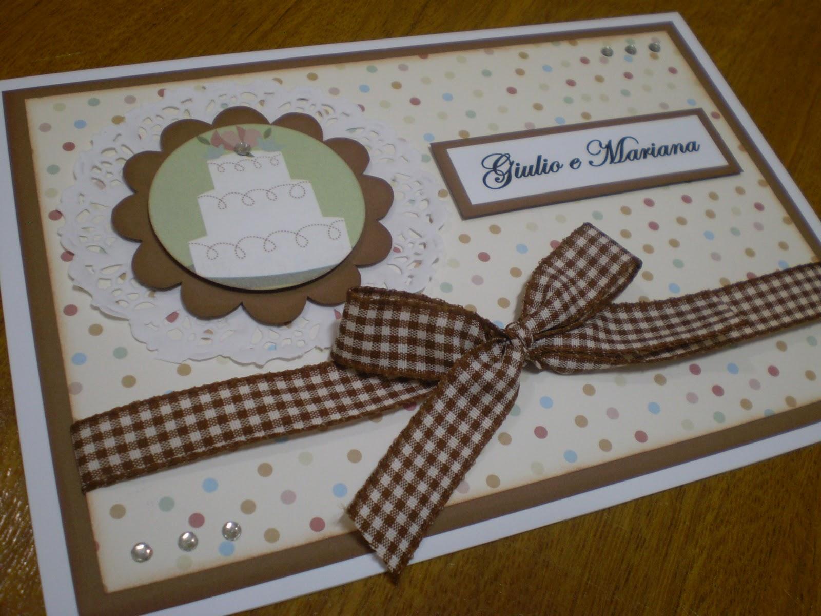 Cartões De Casamento: Adri Sinibaldi Scrapbook: Cartões De Casamento