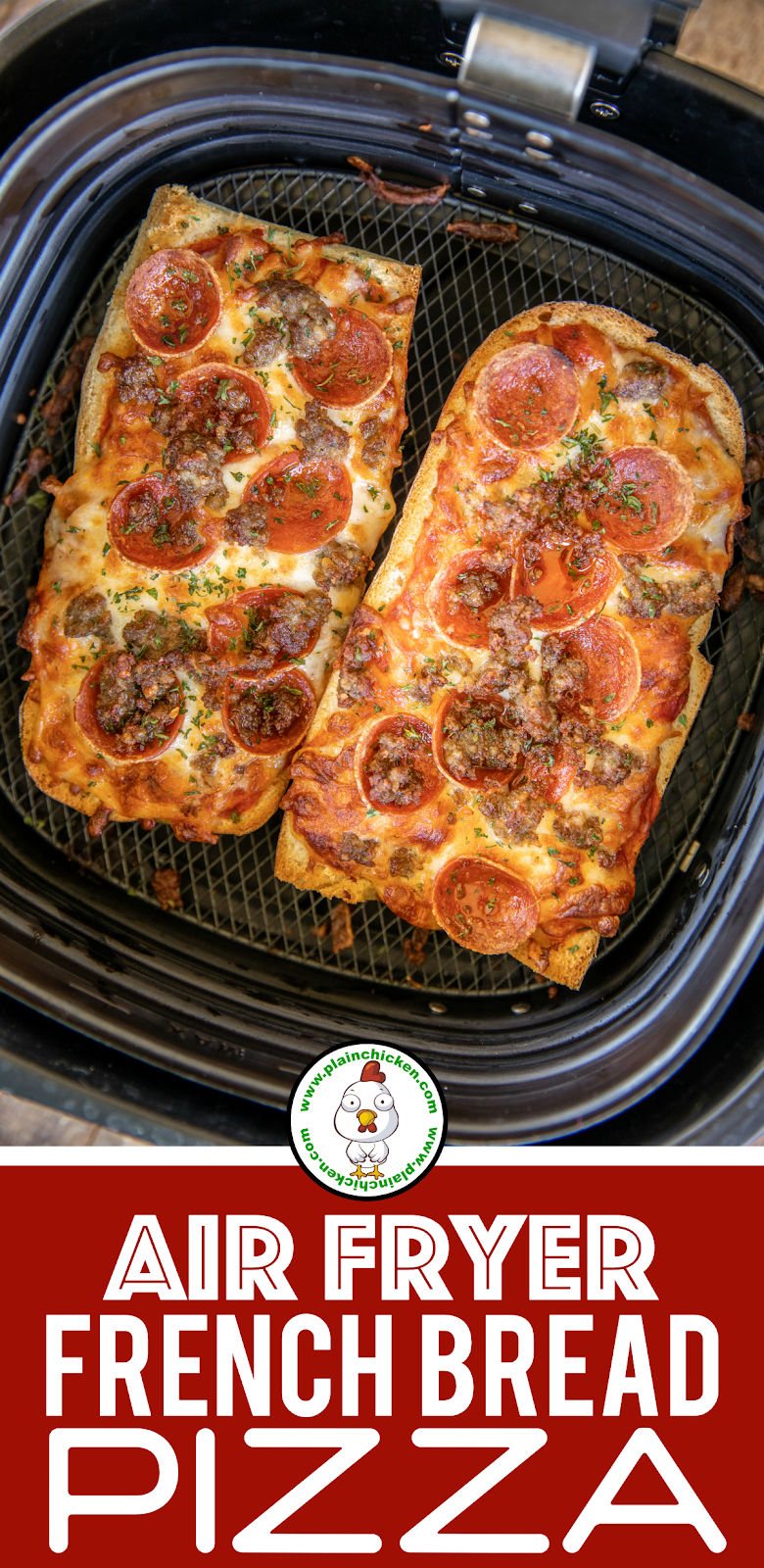 french bread pizza in the air fryer