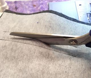 Het inknippen van de zakingang